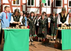 Folklore Group from Seesen/Harz, Schlitzerländer Heimat- und Trachtenfest 2007; Photo: Beate Guder